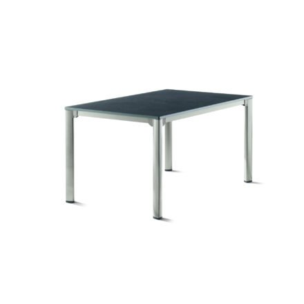 Sieger Gartentisch, Gestell Aluminium graphit, Tischplatte vivodur schiefer-anthrazit, 140x90 cm