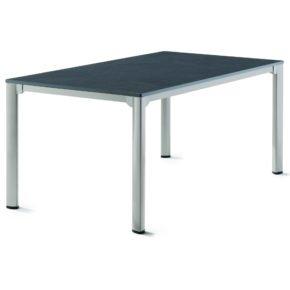 Sieger Gartentisch, Gestell Aluminium graphit, Tischplatte vivodur schiefer-anthrazit, 165x95 cm