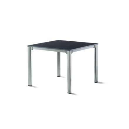 Sieger Gartentisch, Gestell Aluminium graphit, Tischplatte vivodur schiefer-anthrazit, 95x95 cm