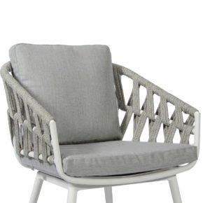 Jati&Kebon Kissen-Set zu Sessel Palm, Farbe: natte grey chinè