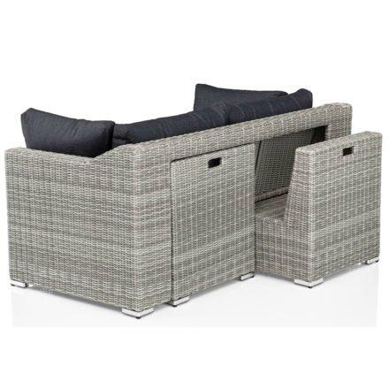 "Kettler Lounge-Set ""Costa"", Gestell Aluminium, Geflecht Polyrattan white-wash, Kissen anthrazit"