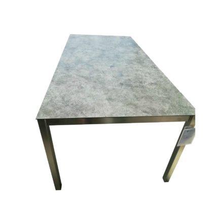"SIT Mobilia Gartentisch ""Etna"", Gestell Edelstahl, Tischplatte Keramik Oxido lava"