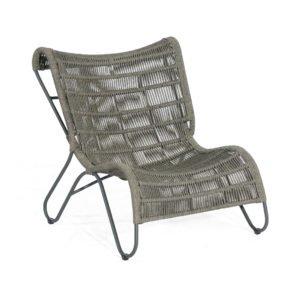 """SonnenPartner Sessel """"Ritz"""", Gestell Aluminium, Geflecht Polyrope grau"""