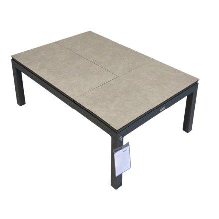 """Tierra Outdoor """"Flip-up"""" Loungetisch, Gestell Aluminium anthrazit, Tischplatte HPL, drei einzelne Module, verstellbar"""