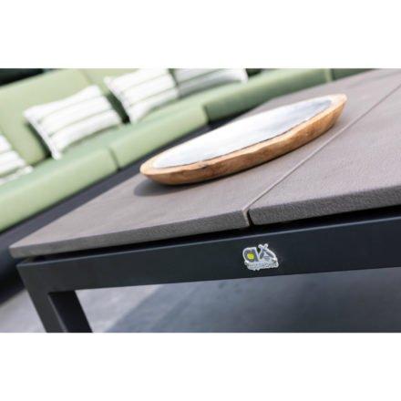 """Applebee Loungetisch """"Pebble Beach"""", Aluminium schwarz, Tischplatte aus LWC (Leichtbeton)"""