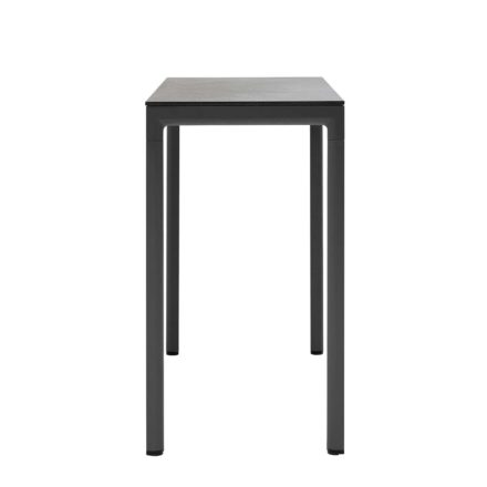 """Cane-line """"Drop"""" Bartisch, Alu lavagrau, Tischplatte Keramik schwarz"""
