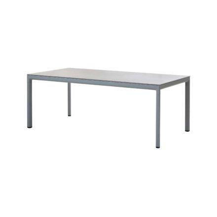 "Cane-line ""Drop"" Gartentisch, Alu hellgrau, Tischplatte Keramik grau, 100 x 200 cm"