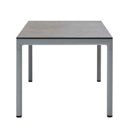 """Cane-line """"Drop"""" Gartentisch, Alu hellgrau, Tischplatte Keramik schwarz, 150 x 90 cm"""