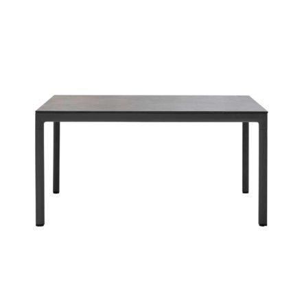 """Cane-line """"Drop"""" Gartentisch, Alu lavagrau, Tischplatte Keramik schwarz, 150 x 90 cm"""