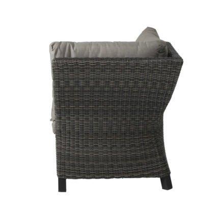 """Siena Garden Eckteil """"Corido"""", Gestell Aluminium anthrazit matt, Geflecht charcoal grey, Kissen taupe meliert"""