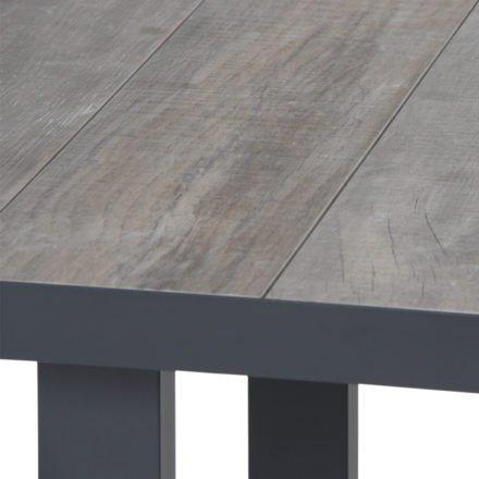 """Siena Garden """"Corido"""" Casual-Dining-Tisch, Gestell Aluminium anthrazit matt, Tischplatte Keramik washed grey"""