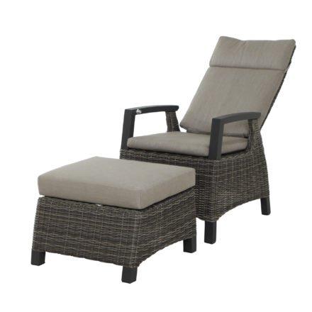 "Siena Garden Dining Sessel ""Corido"", Gestell Aluminium anthrazit, Geflecht charcoal grey, Auflage taupe"