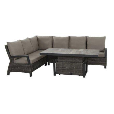 "Siena Garden Lounge-Serie ""Corido"", Gestell Aluminium anthrazit, Geflecht charcoal grey, Kissen taupe"