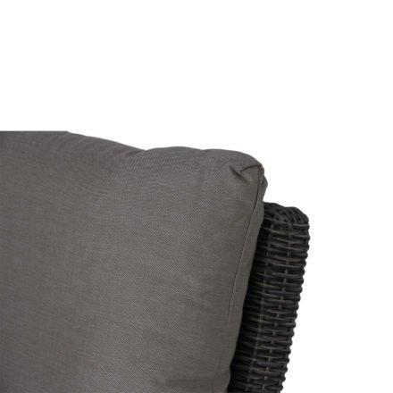 "Siena Garden Eckteil ""Corido"", Gestell Aluminium anthrazit, Geflecht charcoal grey, Kissen taupe"