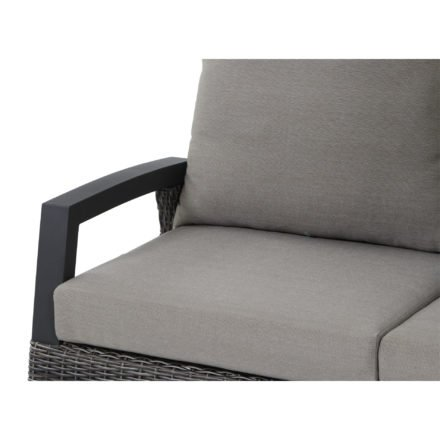 "Siena Garden Lounge-Seitenteil rechts ""Corido"", Gestell Aluminium anthrazit, Geflecht charcoal grey, Kissen taupe"
