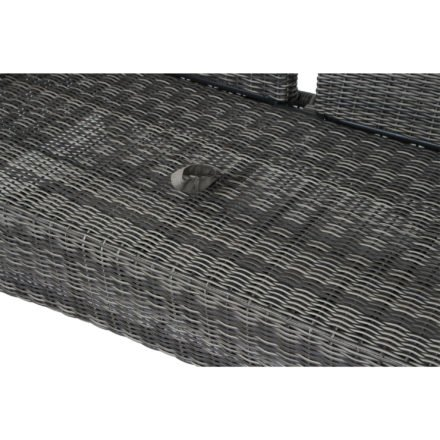 "Siena Garden Loungesofa ""Corido"", Gestell Aluminium, Geflecht charcoal grey, Kissen taupe"