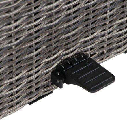 """Siena Garden """"Corido"""" Loungetisch/Lift-Tisch, Gestell Aluminium anthrazit matt, Geflecht charcoal grey, Fußpedal zur Höhenverstellung"""