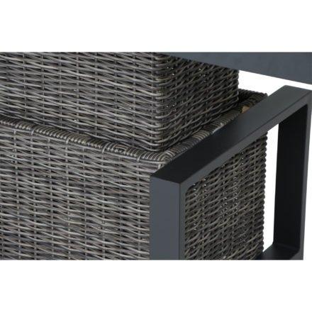 "Siena Garden ""Corido"" Loungetisch/Lift-Tisch, Gestell Aluminium anthrazit matt, Geflecht charcoal grey, Tischplatte Keramik washed grey"