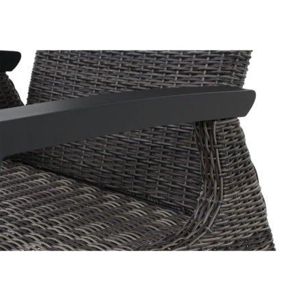 """Siena Garden Loungesessel """"Corido"""", Gestell Aluminium matt-anthrazit, Geflecht charcoal grey"""