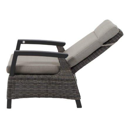 """Siena Garden Loungesessel """"Corido"""", Gestell Aluminium matt-anthrazit, Geflecht charcoal grey, Kissen taupe-meliert"""