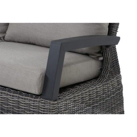 """Siena Garden """"Corido"""" Seitenteil links, Gestell Aluminium anthrazit matt, Geflecht charcoal grey, Kissen taupe meliert"""