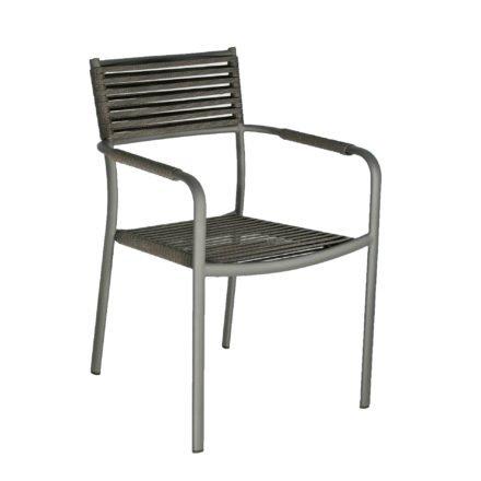 "SIT Mobilia Gartenstuhl ""Arica"", Gestell Aluminium eisengrau, Geflecht Flatrope anthrazit"