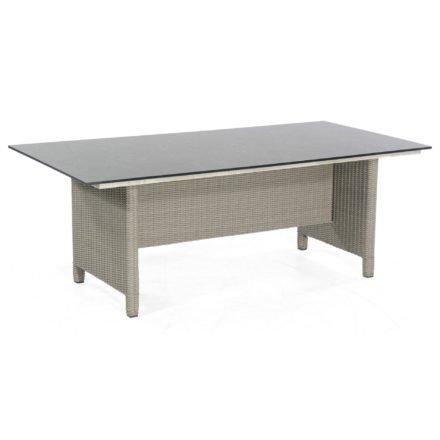"""SonnenPartner Tisch """"Base-Polyrattan"""", Geflecht Polyrattan stone-grey, Tischplatte HPL Compact Struktura anthrazit, 200x100 cm"""