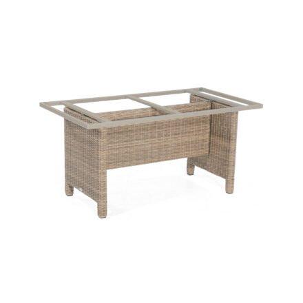 """SonnenPartner Tischgestell """"Base-Polyrattan"""" 150x80 cm, Geflecht rustic-stream, für Tischplatte 160x90 cm"""
