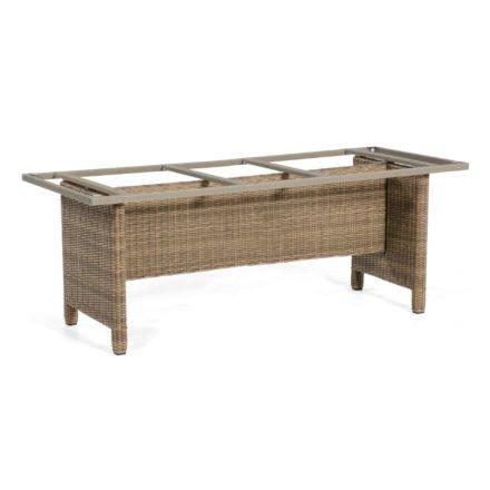 """SonnenPartner Tischgestell """"Base-Polyrattan"""" 190x90 cm, Geflecht rustic-stream, für Tischplatte 200x100 cm"""