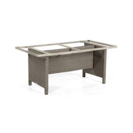 """SonnenPartner Tischgestell """"Base-Polyrattan"""" 150x80 cm, Geflecht stone-grey, für Tischplatte 160x90 cm"""