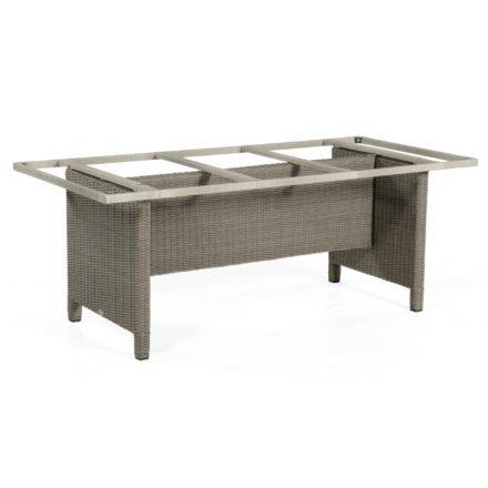 """SonnenPartner Tischgestell """"Base-Polyrattan"""" 190x90 cm, Geflecht stone-grey, für Tischplatte 200x100 cm"""