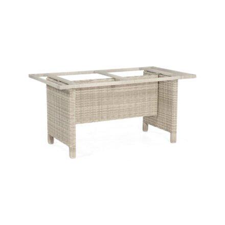 """SonnenPartner Tischgestell """"Base-Polyrattan"""" 150x80 cm, Geflecht white-coral, für Tischplatte 160x90 cm"""