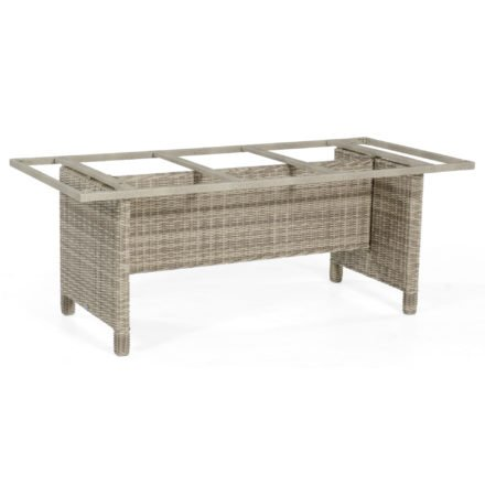 """SonnenPartner Tischgestell """"Base-Polyrattan"""" 190x90 cm, Geflecht white-coral, für Tischplatte 200x100 cm"""