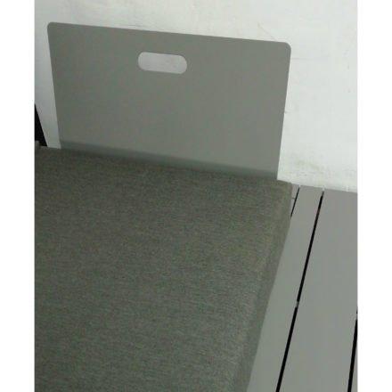 "4Seasons Taste Loungeserie ""Ocean"", Gestell Aluminium slate grey, Detail Rückenlehne, Bezug Olefin dunkelgrau"