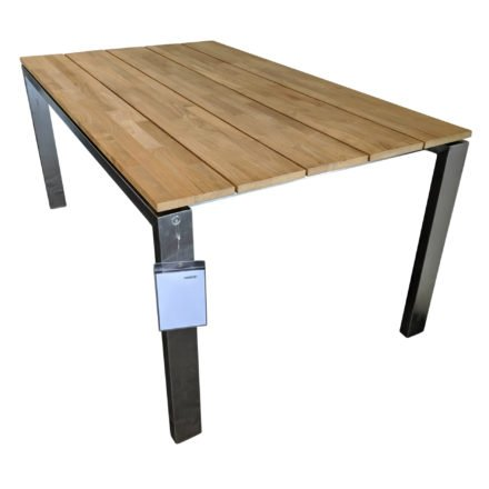 "4Seasons Outdoor Gartentisch ""Goa"", Tischplatte Teakholz, Gestell Edelstahl"