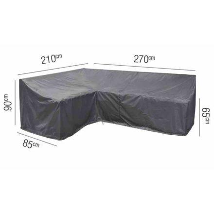 AeroCover L-Form Schutzhülle links – 210x270x85 cm, Höhe 65/90 cm