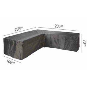 AeroCover L-Form Schutzhülle – 235x235x100 cm, Höhe 70 cm