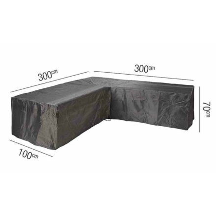 AeroCover Schutzhülle für Loungegruppen – 300x300x100 cm Höhe 70 cm