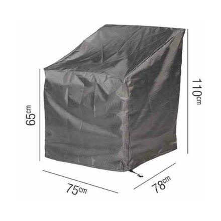 AeroCover Schutzhülle für Loungesessel – 75x78 cm, Höhe 65/110 cm