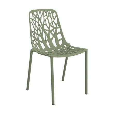 "Fast Gartenstuhl ""Forest"", Gestell Aluminium salbeigrün"