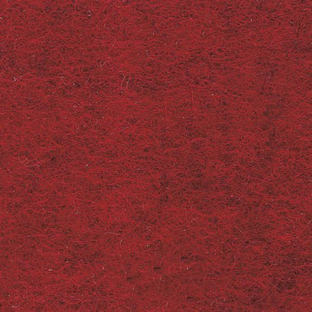 Fast Filz aus 100% Wolle, Farbe Rot (FRO)