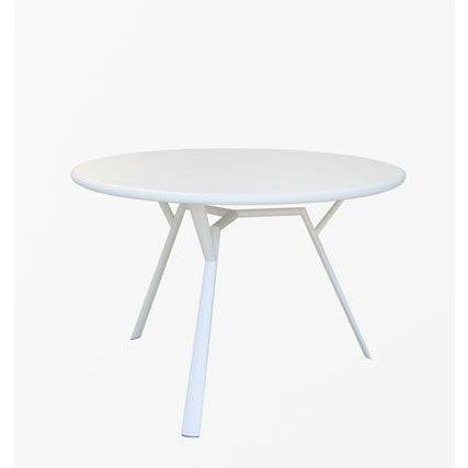 """Fast Gartentisch """"Radice Quadra"""" rund, Gestell Aluminium weiß"""