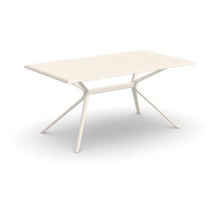 """Fast Gartentisch """"Moai"""", Gestell und Tischplatte Aluminium cremeweiß, 160x90 cm"""