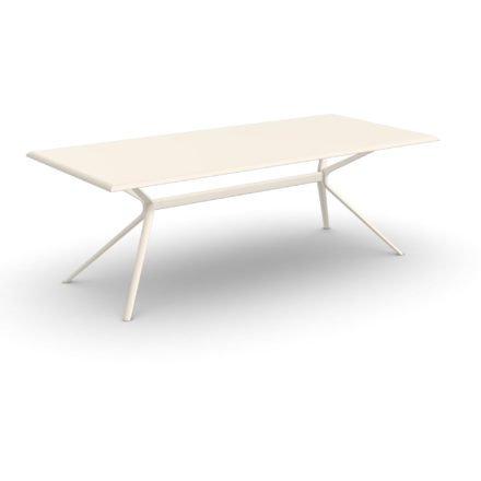 """Fast Gartentisch """"Moai"""", Gestell und Tischplatte Aluminium cremeweiß, 220x100 cm"""