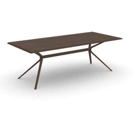 """Fast Gartentisch """"Moai"""", Gestell und Tischplatte Aluminium dunkelbraun, 220x100 cm"""