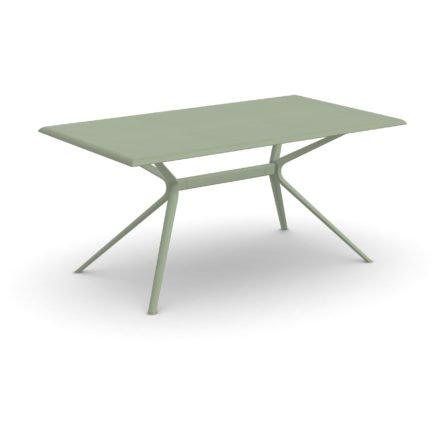 "Fast Gartentisch ""Moai"", Gestell und Tischplatte Aluminium Grüner Tee, 160x90 cm"