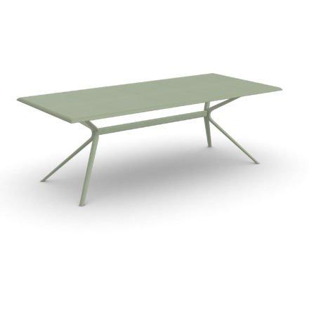 "Fast Gartentisch ""Moai"", Gestell und Tischplatte Aluminium Grüner Tee, 220x100 cm"