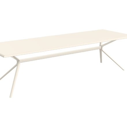 """Fast Gartentisch """"Moai"""", Gestell und Tischplatte Aluminium cremeweiß, 290x100 cm"""
