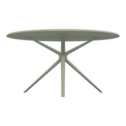 """Fast Gartentisch """"Moai"""" rund, Gestell und Tischplatte Aluminium Grüner Tee, Ø146 cm"""