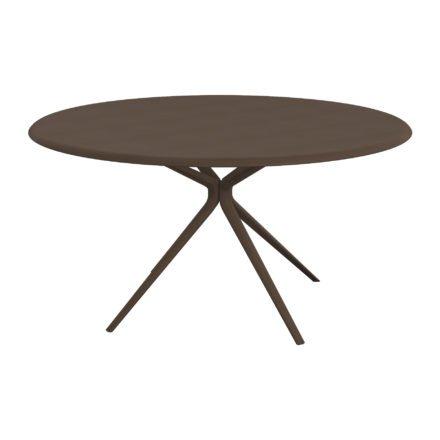 """Fast Gartentisch """"Moai"""" rund, Gestell und Tischplatte Aluminium dunkelbraun, Ø146 cm"""